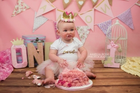 amelia rose photography manchester tameside ashton under lyne first birthday newborn photographer cake smash children professional (15)